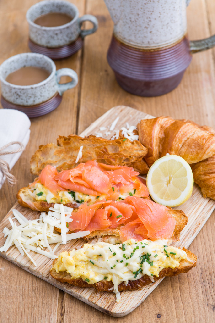 Smoked Salmon With Scrambled Eggs On Croissants Keeprecipes Your Universal Recipe Box